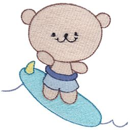 Surfing Bear