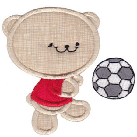 2 Cute Bears Applique 1