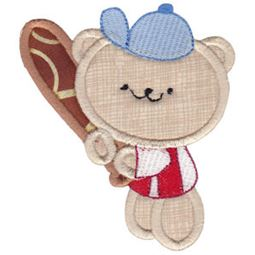 2 Cute Bears Applique 11
