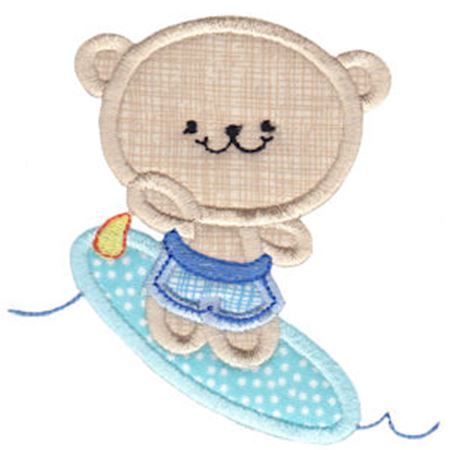 2 Cute Bears Applique 13