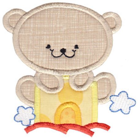 2 Cute Bears Applique 15