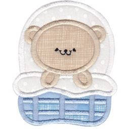 2 Cute Bears Applique 3