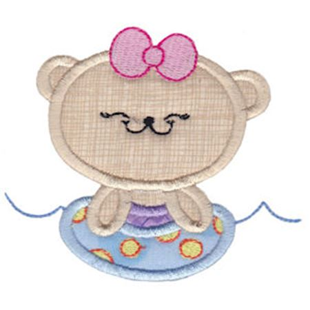 2 Cute Bears Applique 5