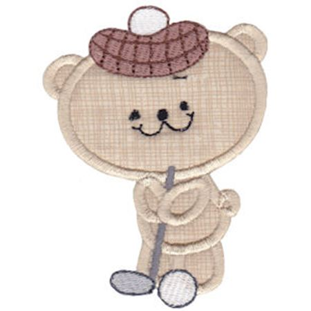 2 Cute Bears Applique 7