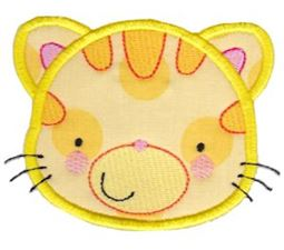 Adorable Animal Faces Applique 2
