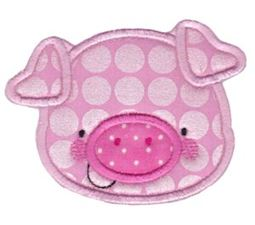 Adorable Animal Faces Applique 4