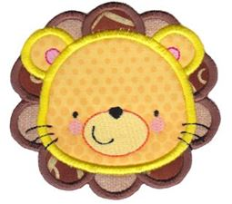 Adorable Animal Faces Applique 5