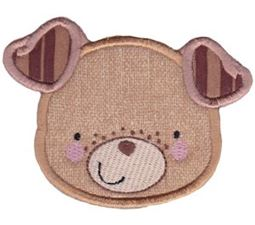 Adorable Animal Faces Applique 8