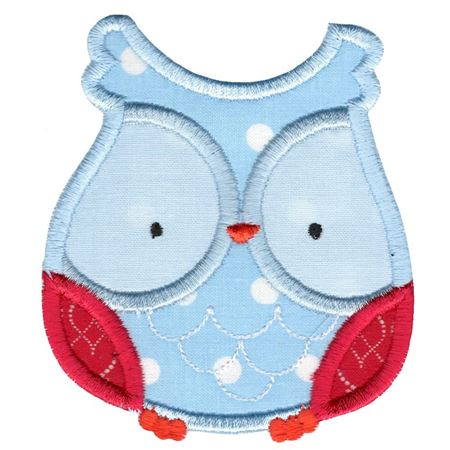 Adorable Owls Applique 12