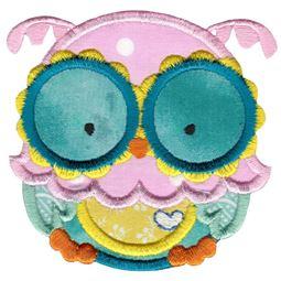 Adorable Owls Applique 3
