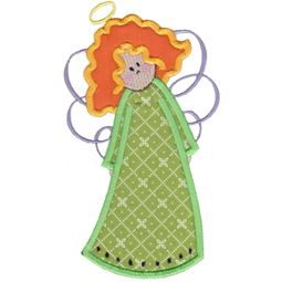 Angels Applique 5x7 6x10 1