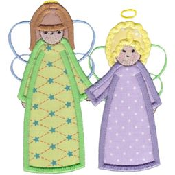 Angels Applique 5x7 6x10 11