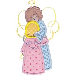 Angels Applique 5x7 6x10 12