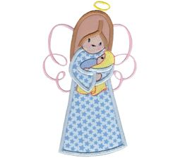 Angels Applique 5x7 6x10 4