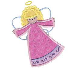 Angels Applique 5x7 6x10 5