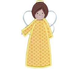 Angels Applique 5x7 6x10 6