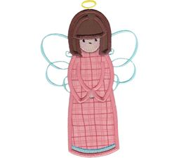 Angels Applique 5x7 6x10 8