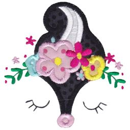 Skunk Face Applique