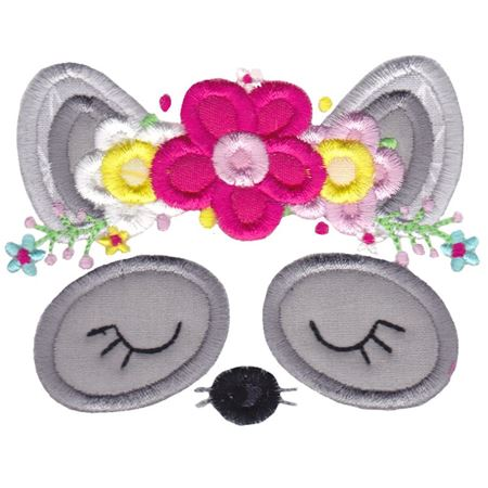 Raccoon Face Applique