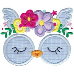 Owl Face Applique
