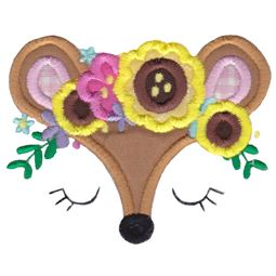 Deer Face Applique