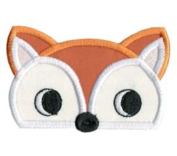 Box Fox Animal Topper Applique