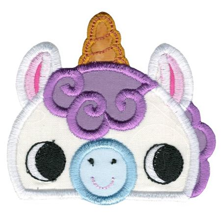 Boy Unicorn Animal Topper Applique