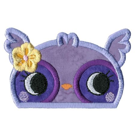 Girl Owl Animal Topper Applique