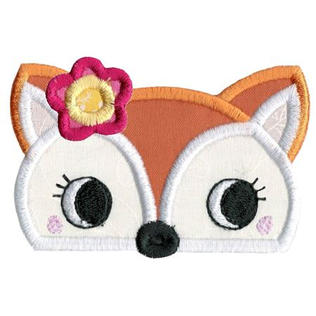 Girl Fox Animal Topper Applique