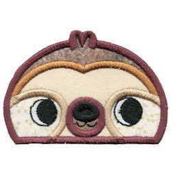 Boy Sloth Animal Topper Applique