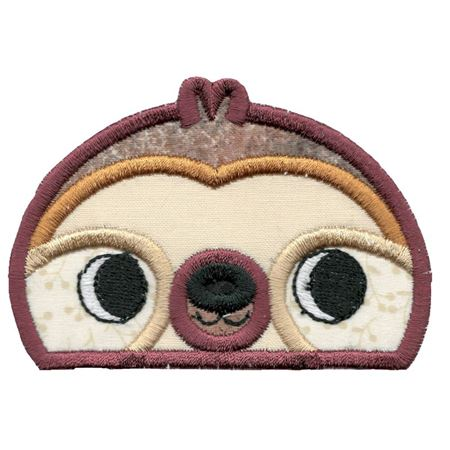 Boy Sloth Animal Topper Applique