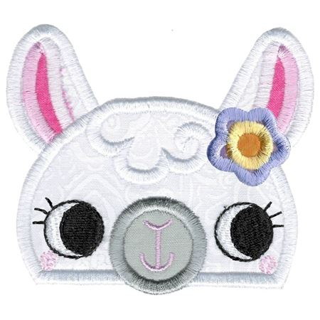 Girl Llama Animal Topper Applique