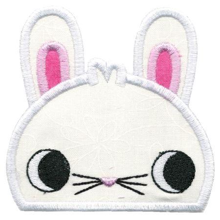 Boy Bunny Animal Topper Applique
