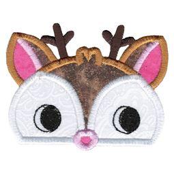 Boy Deer Animal Topper Applique