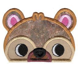 Boy Bear Animal Topper Applique