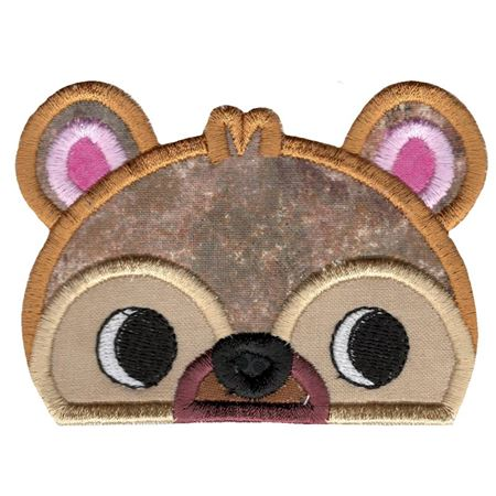 Boy Bear Animal Topper Applique
