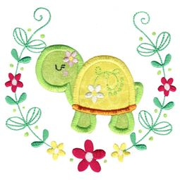 Applique Turtle Laurel