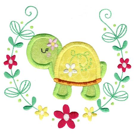 Applique Turtle Laurel