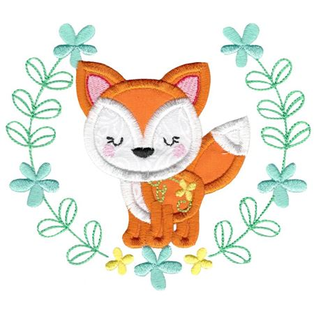 Applique Fox Laurel