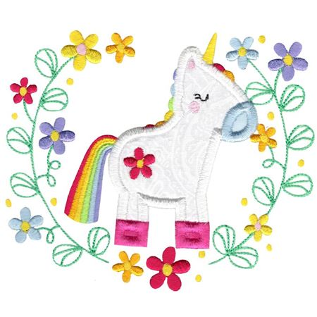 Applique Unicorn Laurel