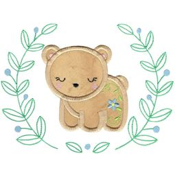 Applique Bear Laurel