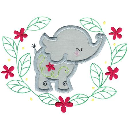 Applique Elephant Laurel