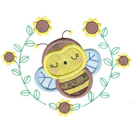 Applique Bee Laurel