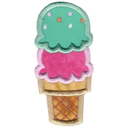 Ice-Cream Cone Applique