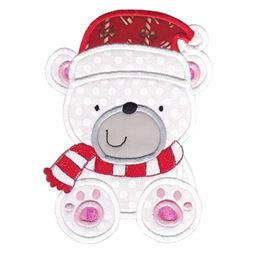 Applique Christmas Polar Bear