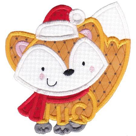 Applique Christmas Fox