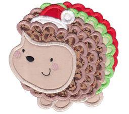 Applique Christmas Hedgehog