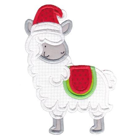 Applique Christmas Llama