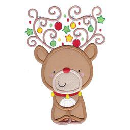 Applique Christmas Reindeer