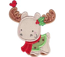 Applique Christmas Moose